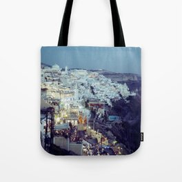 Fira at Dusk II Tote Bag