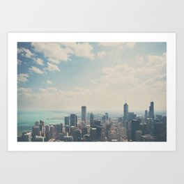 Looking down on the city ... Art Print