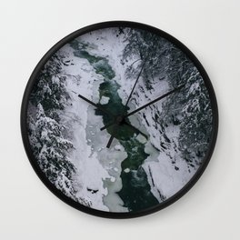 Frozen River Gorge in Vermont Wall Clock