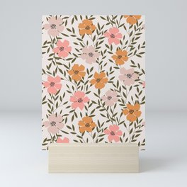 70s Floral Theme Mini Art Print