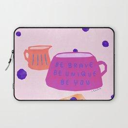 Be Brave Be Unique Be You Blueberry Cake Teatime Illustration Laptop Sleeve