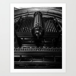 Trinity Church Pipe Organ Art Print