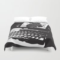 hemingway Duvet Covers featuring Ernest Hemingway Quote by People Matter Creative