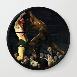 George Wesley Bellows - Both Members Of This Club - Digital Remastered Edition Wall Clock
