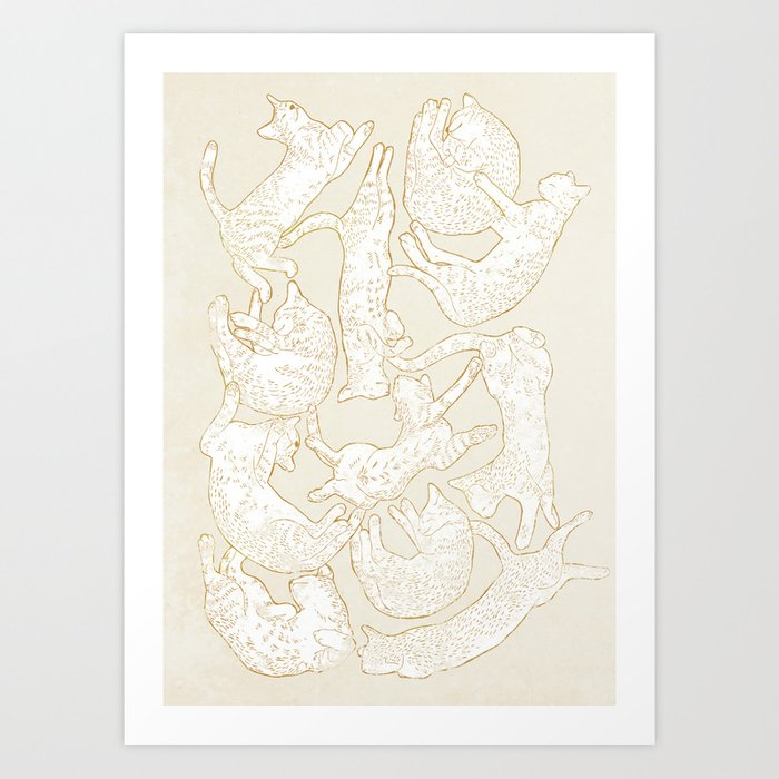 Discover the motif ELEVEN SLEEPY CAT by Robert Farkas as a print at TOPPOSTER