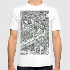 The Town of Train 1 MEDIUM White Mens Fitted Tee