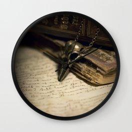 Still life with skull pendant Wall Clock