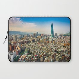 Aerial view and cityscape of Taipei, Taiwan Laptop Sleeve