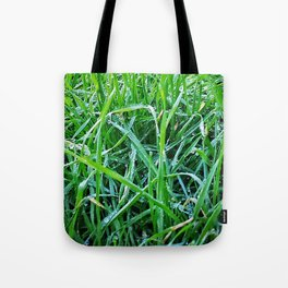 Dewy Grass Tote Bag