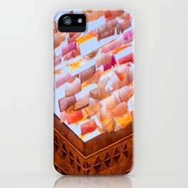 Colorful Tea Towels in the Wind iPhone Case