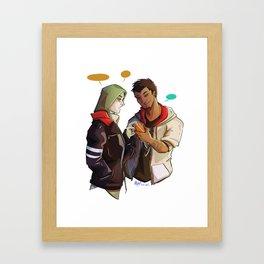 Alex and Desmond Framed Art Print