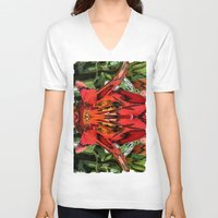 alien V-neck T-shirts featuring Alien by IowaShots
