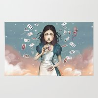 saga Area & Throw Rugs featuring It's time for tea Alice by Saga-Mariah