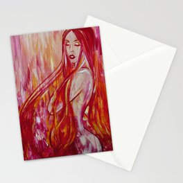 Fire in Her Veins Stationery Cards