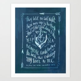 Old Sailor Song No.2 Art Print