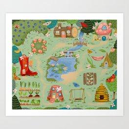 Fairy Garden Playmat Art Print