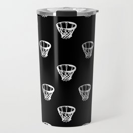 Basketball Motif Print Pattern Travel Mug