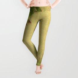 """Pink & green plants"" Leggings"