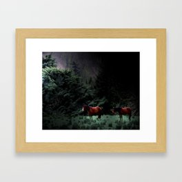 Enniskerry Horses Irish Ireland Romantic Horse Print Framed Art Print