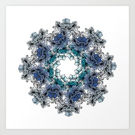 Indigo Bloom Portuguese Tiles – Braga Art Print