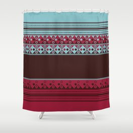 Geometric Spring Texture Shower Curtain