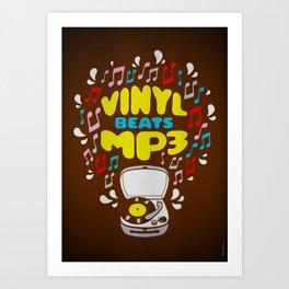 Vinyl Beats Mp3 Art Print
