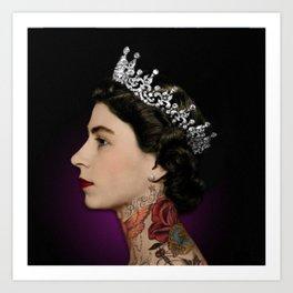 Queen Noir Art Print