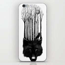 Wolf Barcode iPhone Skin