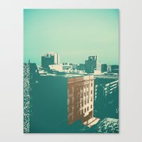 portland Canvas Prints featuring portland by Mike Hanes