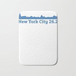 Run New York City Elevation Map 26.2 NYC Bath Mat