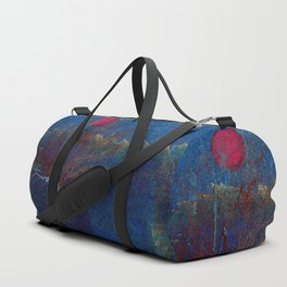 Abstract watercolor landscape with tree Duffle Bag