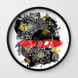 Ink Skull Wall Clock