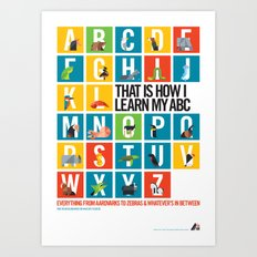 Animal Alphabet Overview Art Print