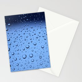 Blue Water Bubbles Stationery Cards