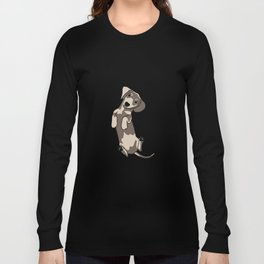 Happy dachshund illustration Long Sleeve T-shirt