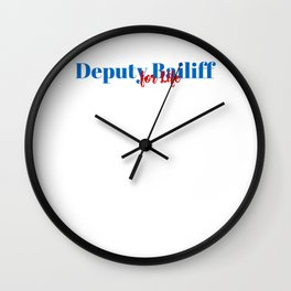 Deputy Bailiff Position Wall Clock