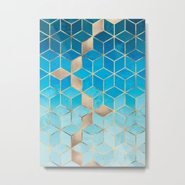 Sea And Sky Cubes (Custom Request) Metal Print