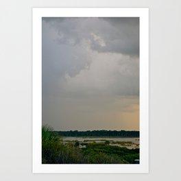 Lightning Storm Over Marsh/Matanzes River Art Print