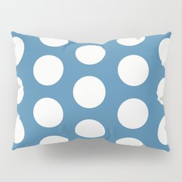 Large Polka Dots on Blue Pillow Sham