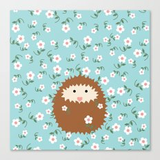 Hedgie in Spring Canvas Print