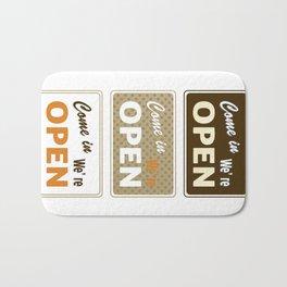 Set of retro labels in different colors. Vector Illustration Bath Mat