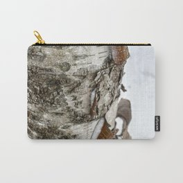 Winter Tree Bark Carry-All Pouch