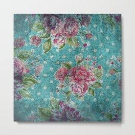 Antique flower pattern Metal Print