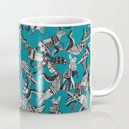 woodland fox party teal blue Coffee Mug