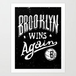Brooklyn Wins Again (Away) Art Print