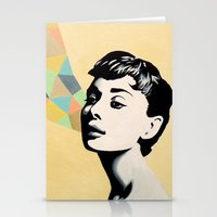 audrey Stationery Cards featuring Audrey by beeisforbear