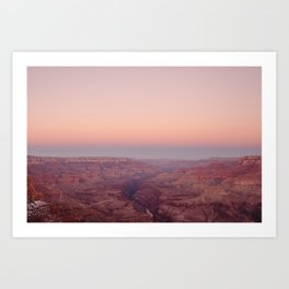 Grand Canyon under a Pink Sky Art Print