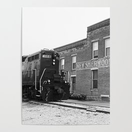 Train and Sherwood Hotel Poster