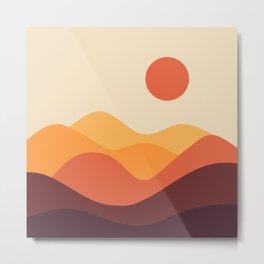 Geometric Landscape 21 Metal Print