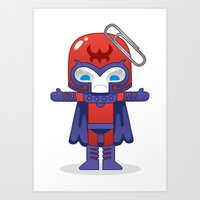magneto Art Prints featuring MAGNETO ROBOTIC by We Are Robotic